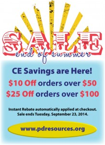 End of Summer CE Sale