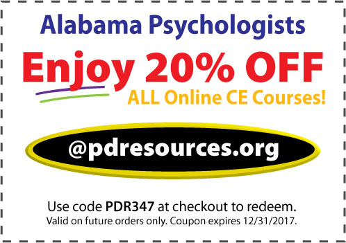 Alabama psychologists can earn all 20 hours required for renewal @pdresources.org