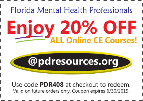 Florida licensees save 20% on CE @pdresources.org