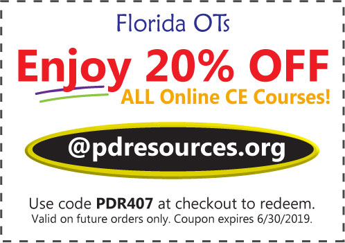 Florida OTs Save 20% on CEUs
