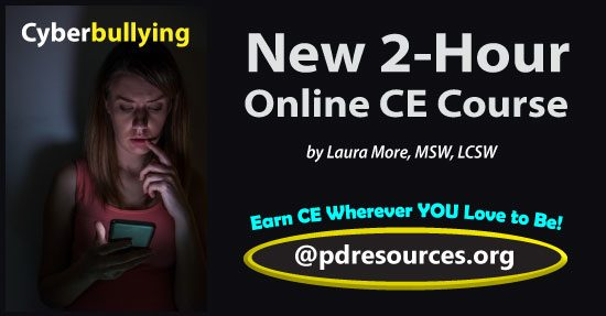 Cyberbullying is a 2-hour online continuing education (CE/CEU) course that reviews evidenced-based research for the identification, management, and prevention of cyberbullying.