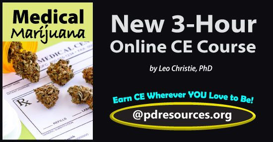 Medical Marijuana is a 3-hour online continuing education (CE/CEU) course that reviews the current literature on medical, legal, educational, occupational, and ethical aspects of marijuana.