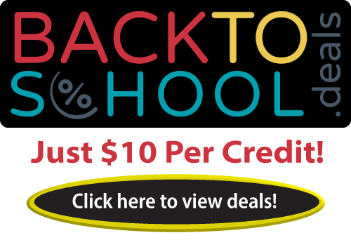 Back to School deals are now available @pdresources.org. Select CE courses are now just $10 per credit hour! Sale ends August 26, 2019.